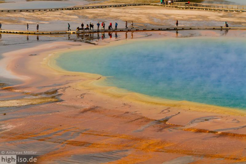 Grand Prismatic Spring im Detail