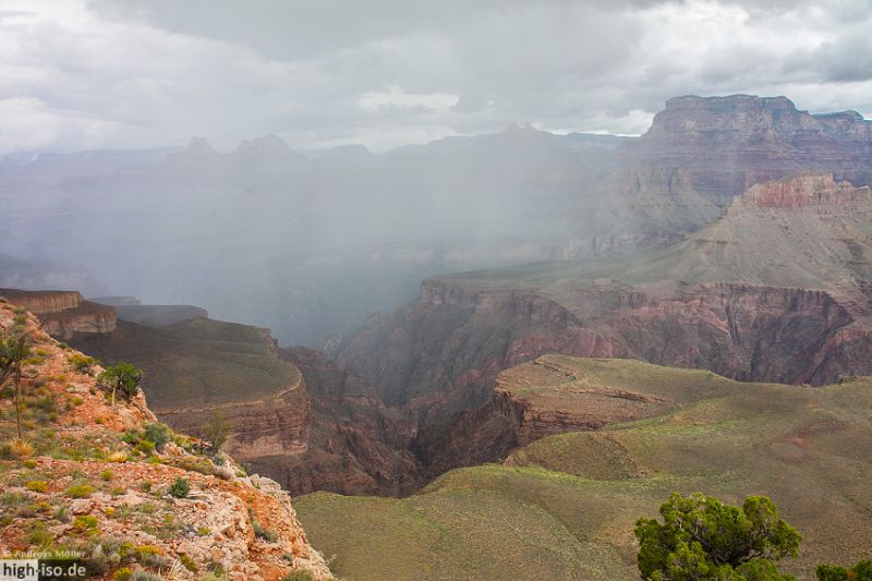 Regen im Grand Canyon